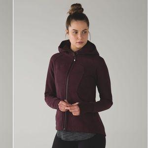 Lululemon from pleat to street hoodie sz 2 maroon